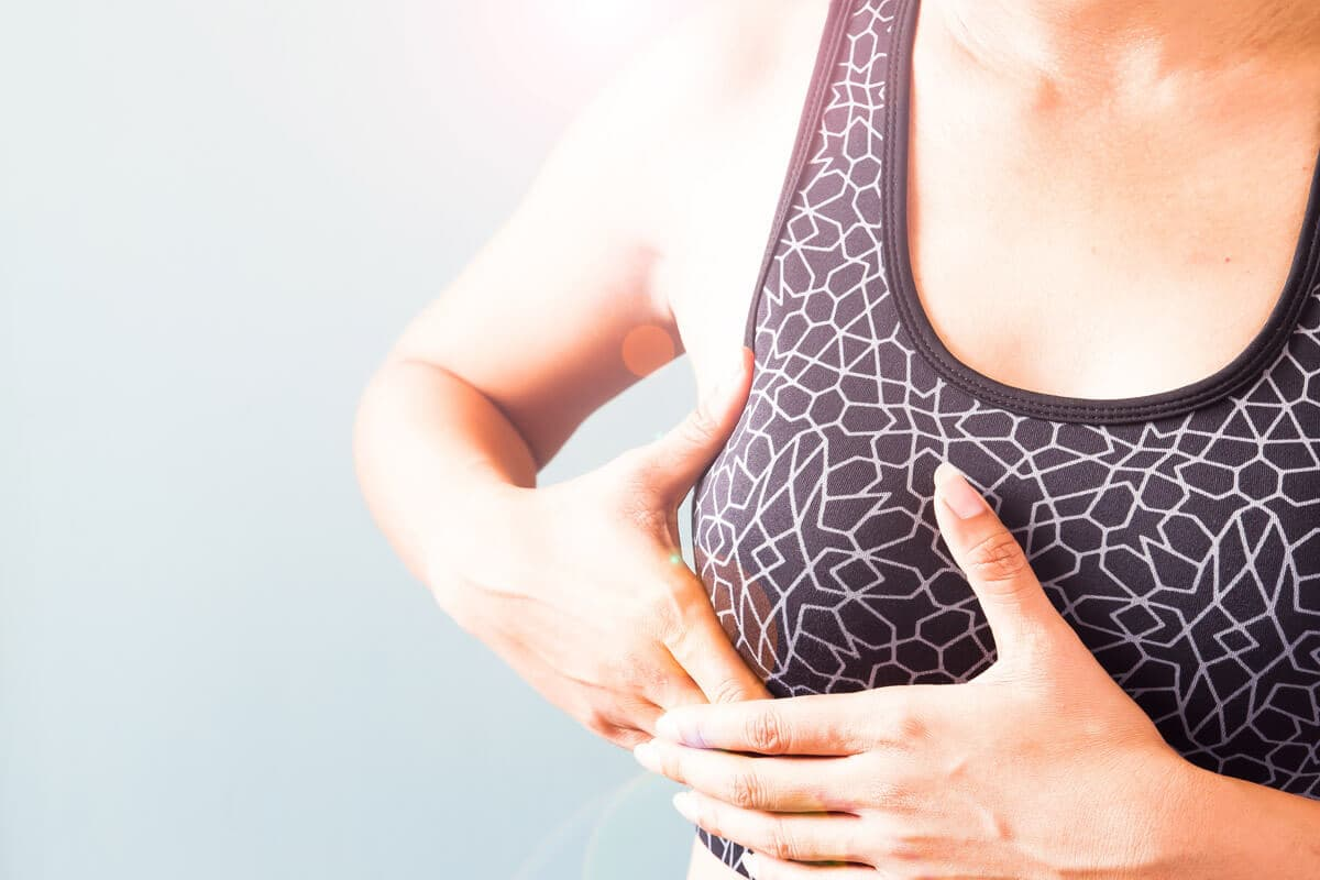 Brustwarze fibrom Fibroadenom •