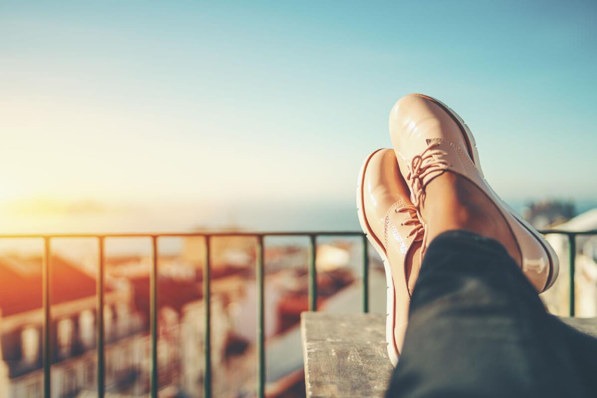 Mit Schuheinlage gegen Fußgeschwüre