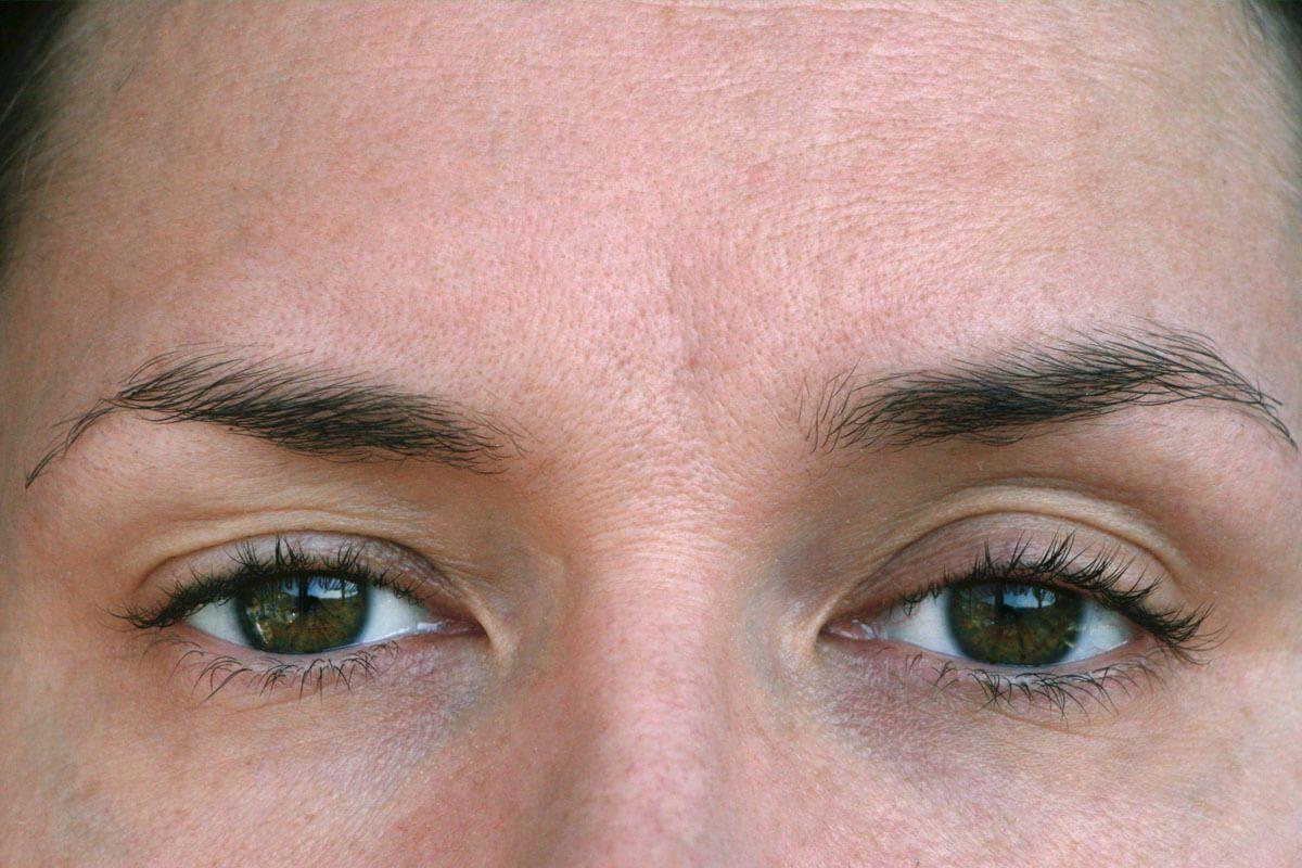 Auge als ein andere kleiner das Ein Auge