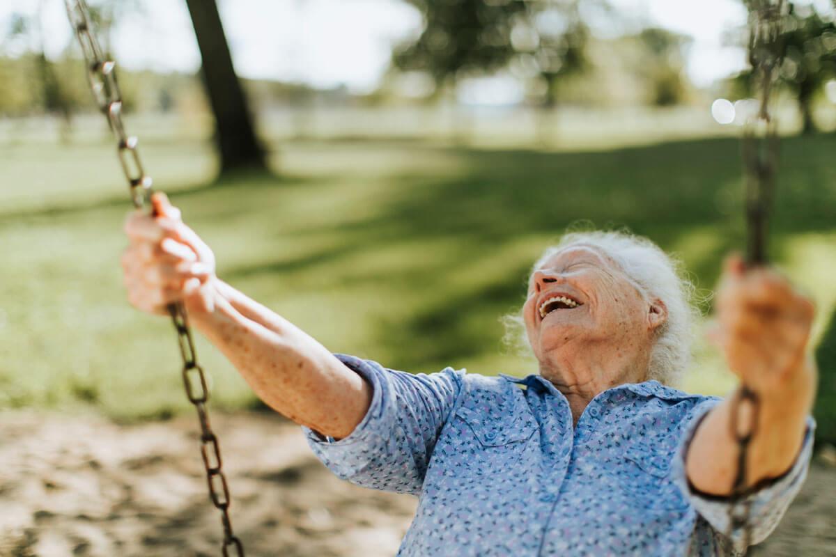Frische Luft beruhigt Demenzkranke